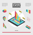 isometric infographic elements concept vector image vector image