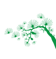 Japanese branch vector image vector image