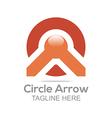letter circle arrow design icon vector image vector image