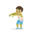 little boy dressed as a zombie cute kid in vector image vector image