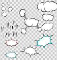 Make your own explosion clouds pack vector image