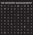 management icons editable line icons set on vector image vector image