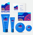 maritime spa cosmetic packaging vector image vector image