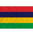 Mauritius paper flag vector image vector image
