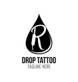 modern drop tattoo logo vector image vector image