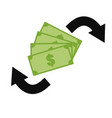 money exchange icon on white background money vector image vector image