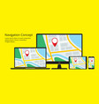 navigation concept responsive map application vector image