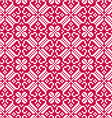 nordic red white seamless pattern vector image