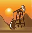 oil drilling process icon vector image