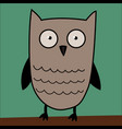 owl cute in vector image