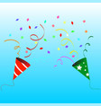 paper popper party vector image vector image