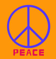 peace symbol icon friendship pacifism on vector image vector image