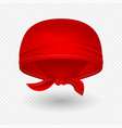 red realistic head bandana vector image