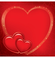red romantic card for valentines day vector image vector image