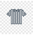 referee jersey concept linear icon isolated on vector image