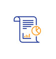 report line icon business management sign vector image vector image