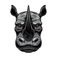 rhino head design element for poster card logo vector image vector image