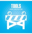 road barrier tool vector image