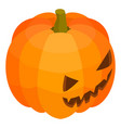 scary pumpkin icon isometric style vector image vector image
