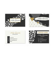 set business cards with hand drawn elements vector image vector image