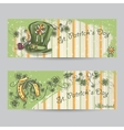 Set of horizontal banners for St Patricks Day vector image vector image