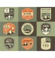 Set of Retro style Ski Club Patrol Labels vector image vector image
