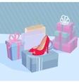 Showcase Shoe Shop vector image vector image