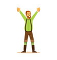 smiling bearded man in a bavarian traditional vector image vector image
