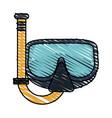snorkel vector image vector image