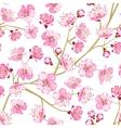Spring flowers wallpaper vector image