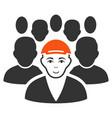 staff leader icon vector image