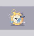 stopwatch icon creative economy vector image