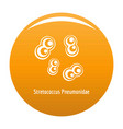 stretococcus pneumonidae icon orange vector image