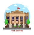 Tax office facade architecture financial building vector image vector image