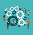 team work concept business teamwork infographics vector image vector image