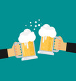 two men toasting glasses of beer flat vector image vector image