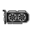 video card monochrome object or element vector image vector image