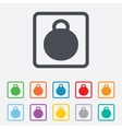 Weight sign icon Sport symbol Fitness vector image