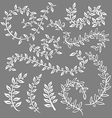 Monochrome vintage set with herbs Sketch of vector image