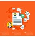 Flat blank worksheet icon Contact social vector image