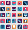 Set of flat medical icons for design vector image