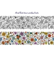 Floral set of horizontal seamless borders for your vector image
