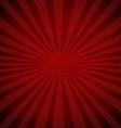Retro Red Sunburst Poster vector image