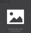 blank photo premium icon white on dark background vector image