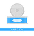 canned food isolated vector image