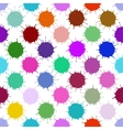 Color Ink Blots Seamless Background vector image