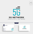 4g network creative logo template icon element vector image vector image