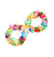 Abstract Colorful Stain Splash Infinity Symbol vector image