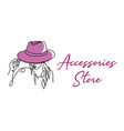 accessories store shop sign signboard girl vector image