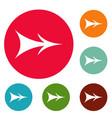 arrow icons circle set vector image
